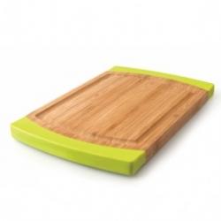 Доска для нарезки 40х28см (бамбук, ручки - силикон) BergHOFF
