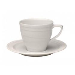 Чашка с блюдцем 0,265 л. фарфор (2 шт) BergHOFF 1690100А